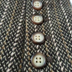 ANN TAYLOR Brown Wool Blazer Suit Jacket